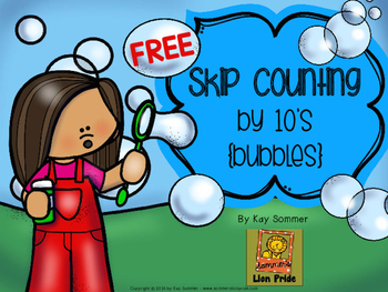 Skip Counting by 10's {bubbles} FREE