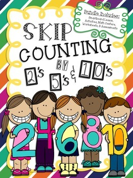 Skip Counting by 2's, 5's, & 10's Math Unit