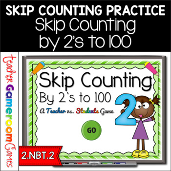Skip Counting by 2's to 100 Powerpoint Game - 2.NBT.2