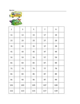 Skip Counting by 2's to 120