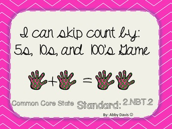 Skip Counting by 5s, 10s, and 100s. Common Core State Stan