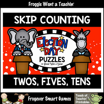"Skip Counting by Twos, Fives, Tens -- ""Election Day"" Puzzles"