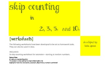 Skip Counting in 2s, 3s, 5s and 10s