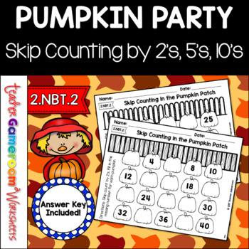 Skip Counting in the Pumpkin Patch Worksheets