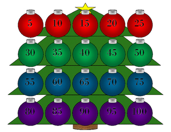 Skip Counting with Christmas Ornaments for Autism
