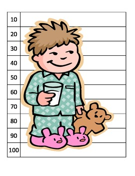Skip counting Christmas hot chocolate pajama center puzzle