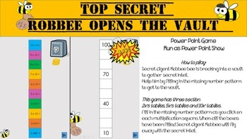Skip counting - Secret Agent Robbee 2's, 5's and 10's