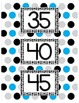 Skip Counting By 5's and 10's Posters- Bright, Colorful Po