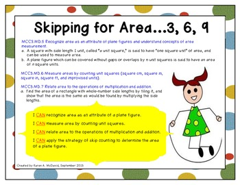 Skipping for Area - Using Skip Counting to Determine Area