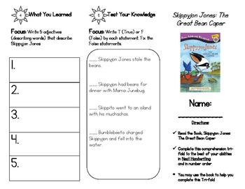 Skippyjon Jones: The Great Bean Caper Comprehenion Tri-fold