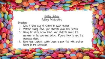 Skittles Activity - Building Relationships