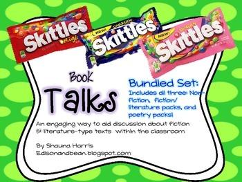Skittles Book Talks Bundled Pack: Non-fiction, Fiction &Li