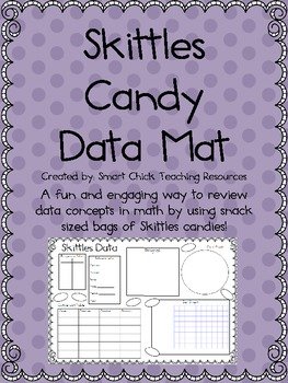 Skittles Candy Data Mat ~ Perfect for a Review of Data Concepts!