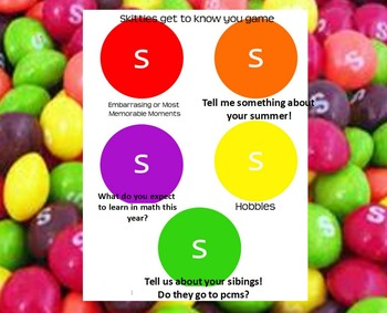 Skittles getting to know you game