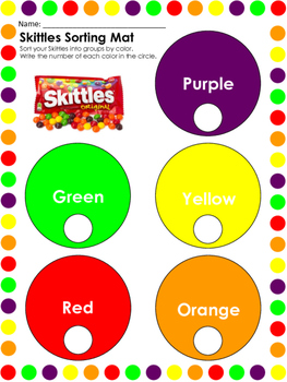Skittles themed Math Worksheets and Writing Pages