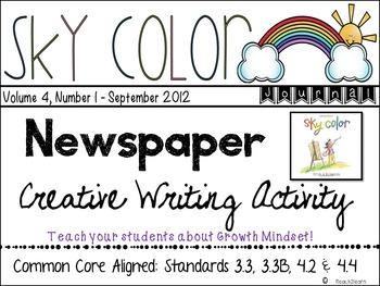 Growth Mindset - Sky Color Creative Writing W.3.3, W.4.3