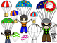 Skydiving & Parachute Clipart (Personal & Commercial Use)