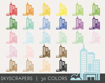 Skyscrapers Digital Clipart, Skyscrapers Graphics, Skyscra
