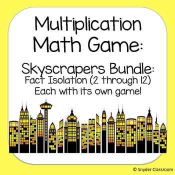 Multiplication Facts Math Game  :Fact Isolation Pack (11 d