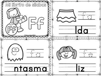 Sílabas - Mini librito sílabas con F/ Spanish Syllables mi