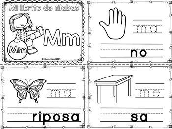 Sílabas - Mini librito sílabas con M / Spanish Syllables m