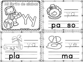 Sílabas - Mini librito sílabas con Y / Spanish Syllables m