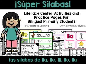 Sílabas llanas – Spanish Phonics Activities for lla, lle,