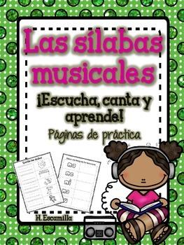 Sílabas musicales - Páginas de práctica ** Musical Syllabl