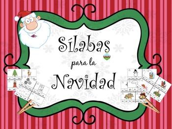 Sílabas para la Navidad for the Bilingual Dual Language Cl