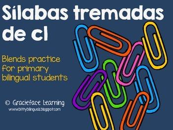 Sílabas tremadas de Cl – Spanish Blends for Cl