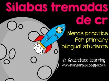 Sílabas tremadas de Cr – Spanish Blends for Cr