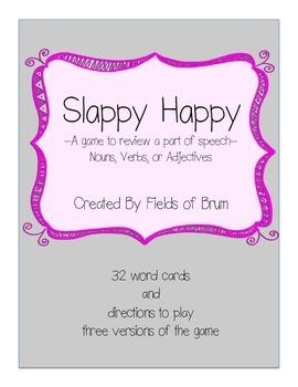 """Parts of Speech Game """"Slappy Happy"""""""
