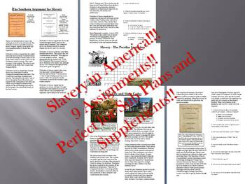 Informational Text Bundle: Slavery in America (Sub Plans)