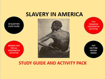 Slavery in America: Study Guide and Activity Pack