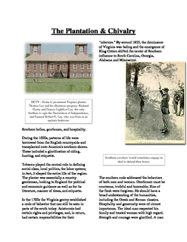 Informational Text - Slavery in America: The Plantation an