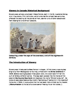 Slavery in Canada and the Underground Railroad Part I
