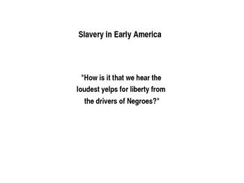 Slavery in Early America