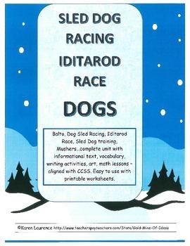 Sled Dog Racing Iditarod Balto Mushers complete printable
