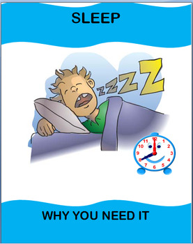 Health-Sleep-Why You Need It; lesson and quiz and art project