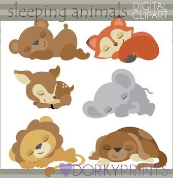 Sleeping Animals Clipart