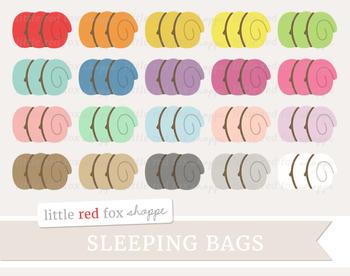 Sleeping Bag Clipart; Camping