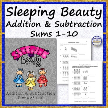 Sleeping Beauty Addition and Subtraction Sums 1-10
