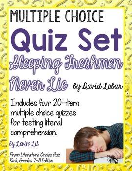 Sleeping Freshmen Never Lie Quiz Set