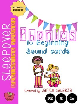 Sleepover: Phonics Product for PreK, P and 1st Grade