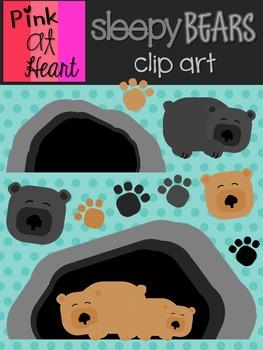 Sleepy Bears Clip Art