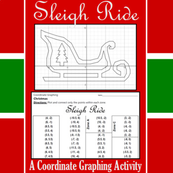 Christmas Sleigh Ride - A Coordinate Graphing Activity