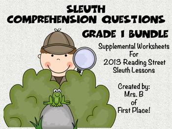 Sleuth Comprehension Worksheets 2013 Reading Street Grade