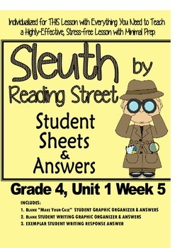 Sleuth, Reading Street, Gr. 4 Unit 1 Wk 5, Letters Home fr