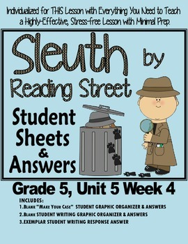 Sleuth Reading Street, Gr. 5 Unit 5 Wk 4, Journey to the C