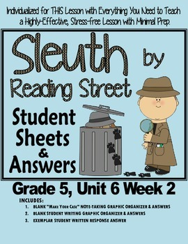 Sleuth Reading Street, Gr. 5 Unit 6 Wk 2, The Mystery of S